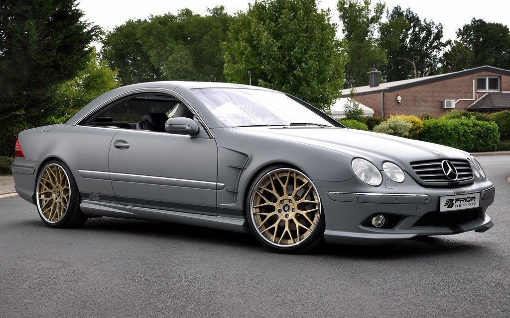 Mercedes Benz Cl Class W215 Full Body Kit Front And Rear Bumper Vented Fenders Cl55 Cl600 Cl65 Cl500 Matte Grey Mercedes Benz Cl Mercedes Benz Cars Mercedes