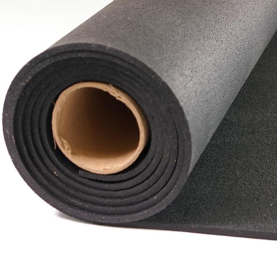 Greatmats Rolled Rubber 48in x 120in Black Rubber Sheet