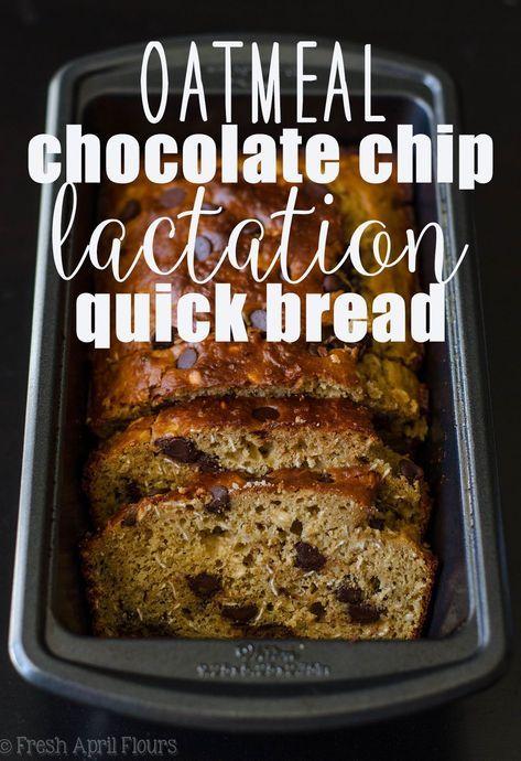 Oatmeal Chocolate Chip Lactation Quick Bread  Recipe -7530