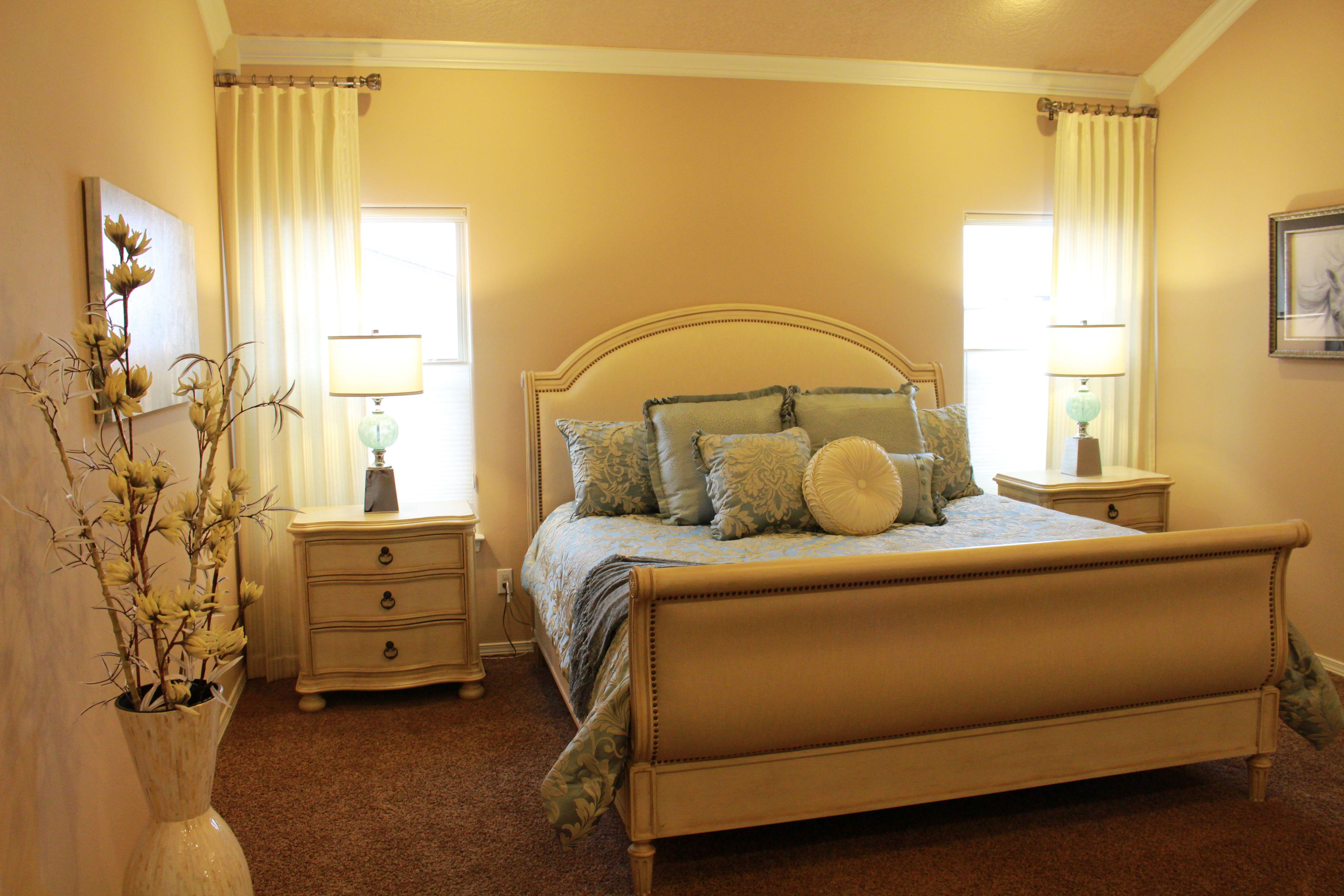 Bright Neutral Master Bedroom Modern Elegant White