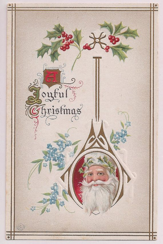 Old fashioned santa claus antique christmas greetings postcard from old fashioned santa claus antique christmas greeting postcard m4hsunfo