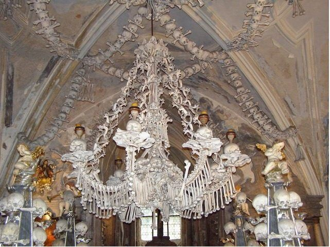 Czech Cemetery Has A Chandelier Made Of Human Bones Architecture The Dead Curbed National