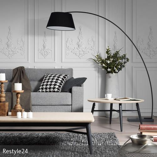 Stehlampen mit Wow-Effekt Wohnzimmer couch, Bogenleuchte und