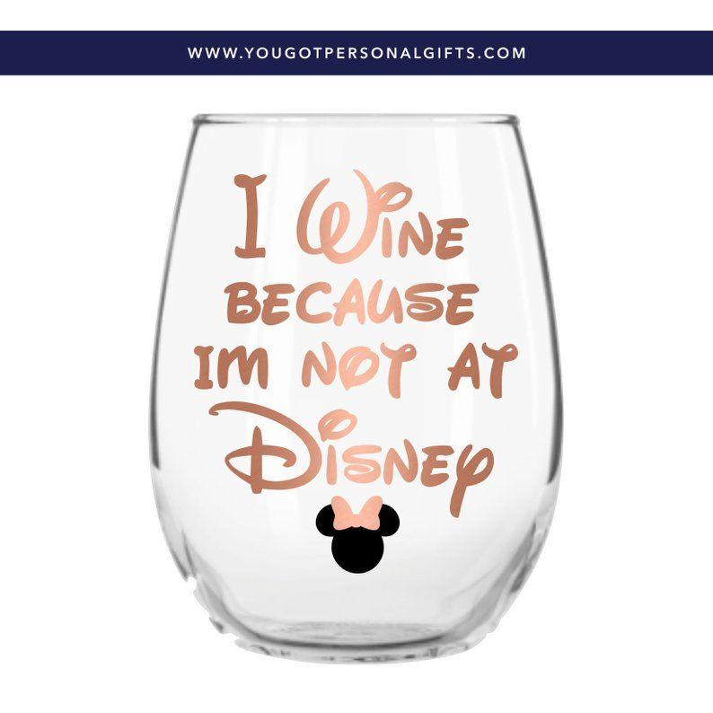 Disney gifts disney wine glasses disney glass disney lover