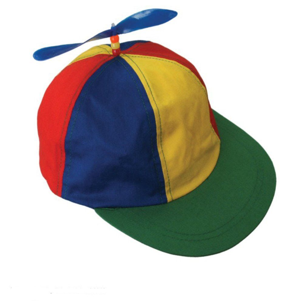 Amazon.com  Adult Size Baseball Style Multi-Color Propeller Hat  Costume  Headwear And Hats  Clothing 0d7eaa7ec47