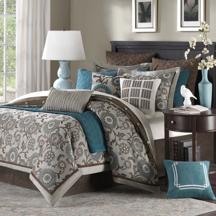 16 Bedroom Decorating Ideas With Exotic African Flavor: Hampton Hill Bennett Place Polyester Jacquard
