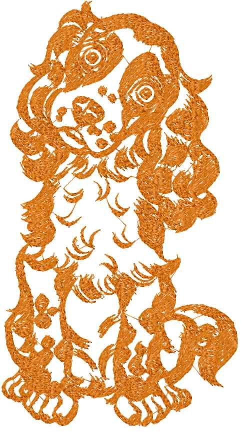 Spaniel Free Embroidery Design Animals Free Machine Embroidery