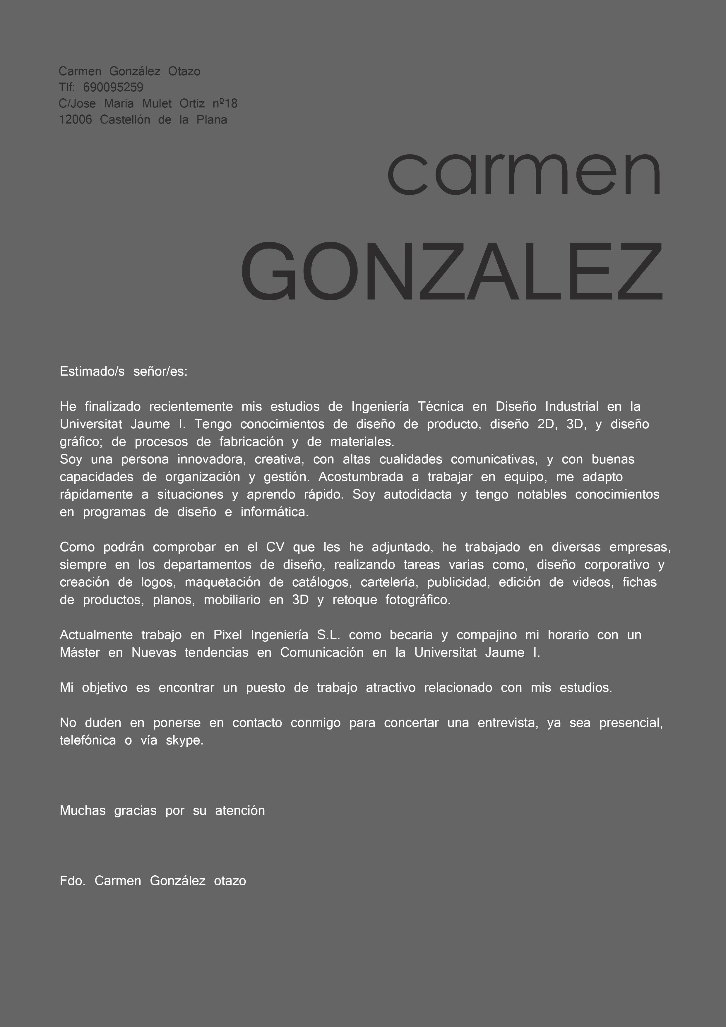 Nueva carta de presentación | Carta de Presentación | Pinterest ...