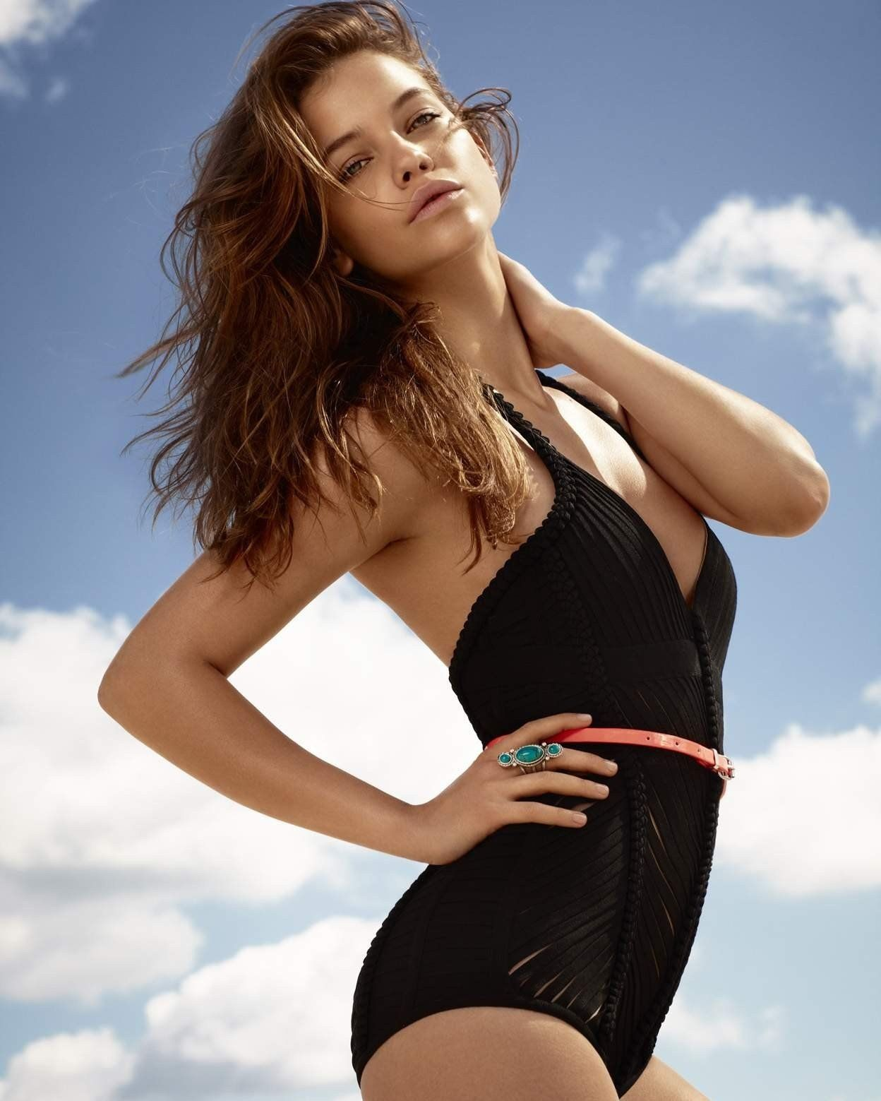 GLOSSY PHOTO PICTURE 8x10 Barbara Palvin With Black
