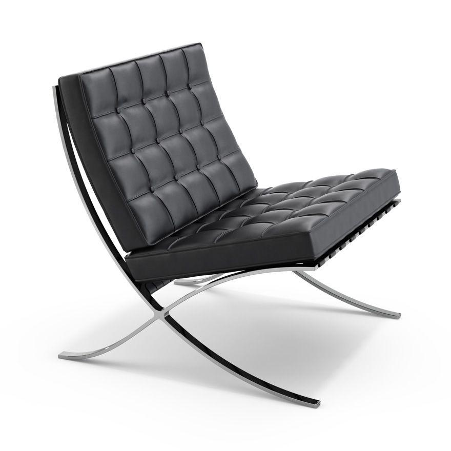 knoll barcelona chair cafe barcelona stuhl sessel und. Black Bedroom Furniture Sets. Home Design Ideas