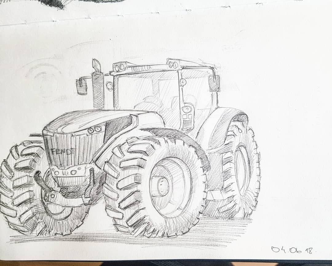 Pin Von Mikhail Shashkov Auf Tractors Traktor Malen Zeichnungen Zeichnung