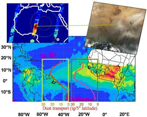 Viento arrastra 40 millones de toneladas de arena anules desde el Sahara el Amazonas