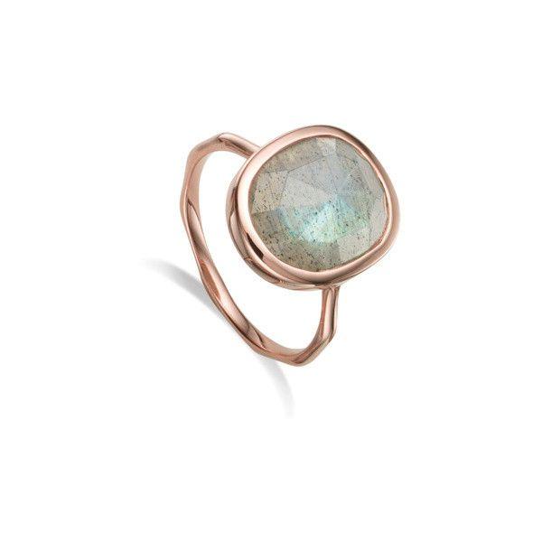 Siren Labradorite Stacking Ring, Gold Vermeil on Silver Monica Vinader