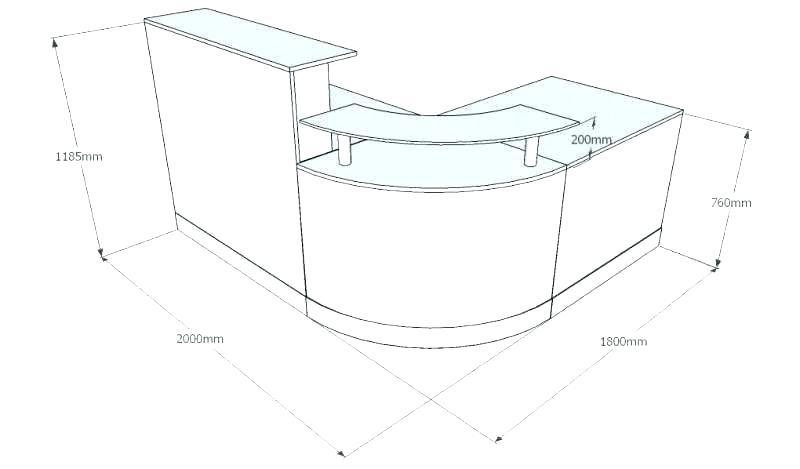Reception Desk Dimensions Standards Typical Reception Desk Height