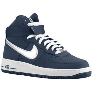super popular 5f4f3 25210 Nike Air Force 1 High Premium - Men s - Sport Inspired - Shoes - Midnight  Navy Metallic Silver