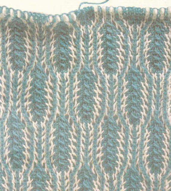Patrón #1026: Hojas Bicolor a Dos Agujas   CTejidas [Crochet y Dos ...