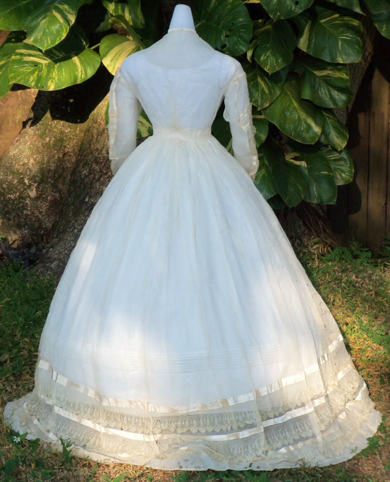 Original Civil War Era Wedding Dress for Study | eBay | 1850s ...