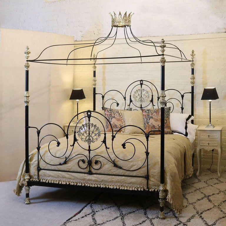 Queening... Poster bed, Iron canopy bed, Handcrafted bed