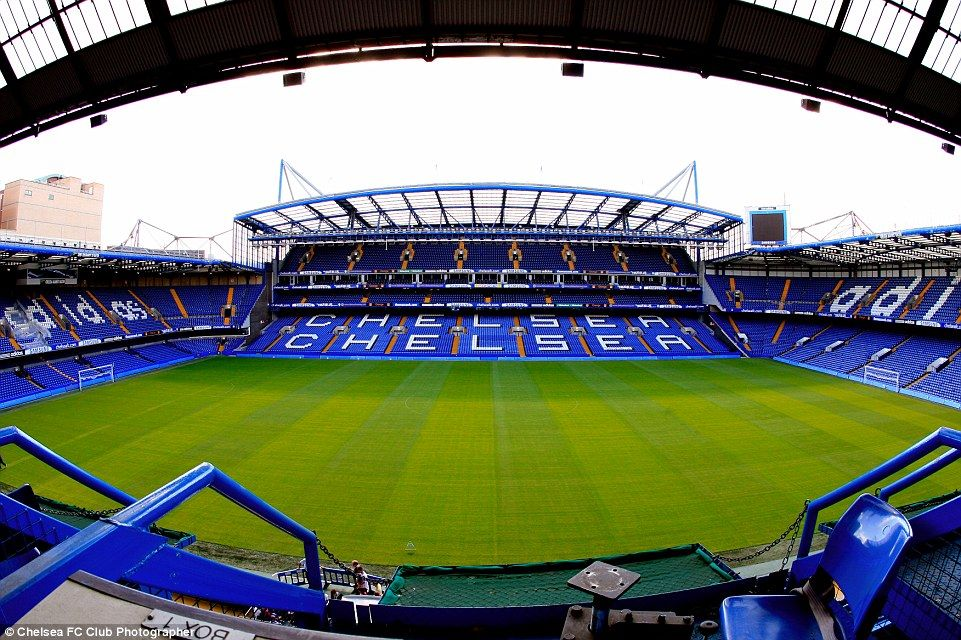 Stamford Bridge - Home of the Premier League champions as it looks today.