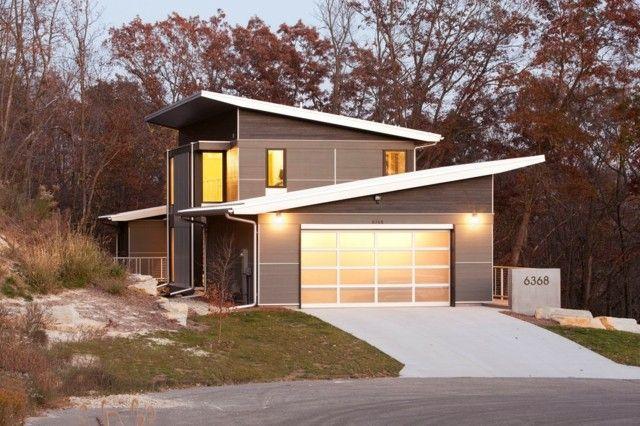 haus flachdach garage einfamilienhaus planen bauen | architecture, Moderne deko