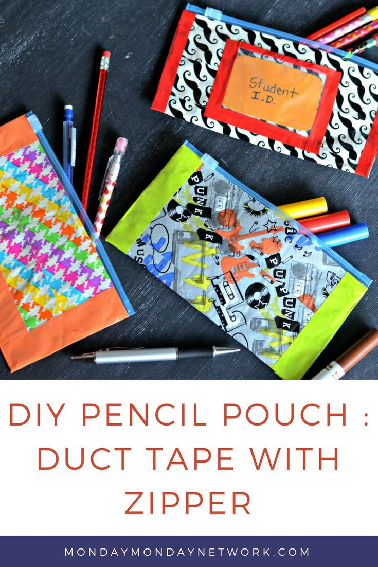 images How to Make a Duct Tape Pencil Pouch
