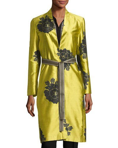 65e00c1af8219f Floral Shantung Belted Topper Yellow in 2019 | Products | White silk ...