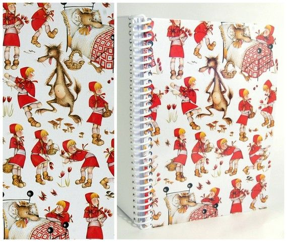 Little Red Ridding Hood  Spiral Notebook 4 x 6 by Ciaffi on Etsy, $10.00