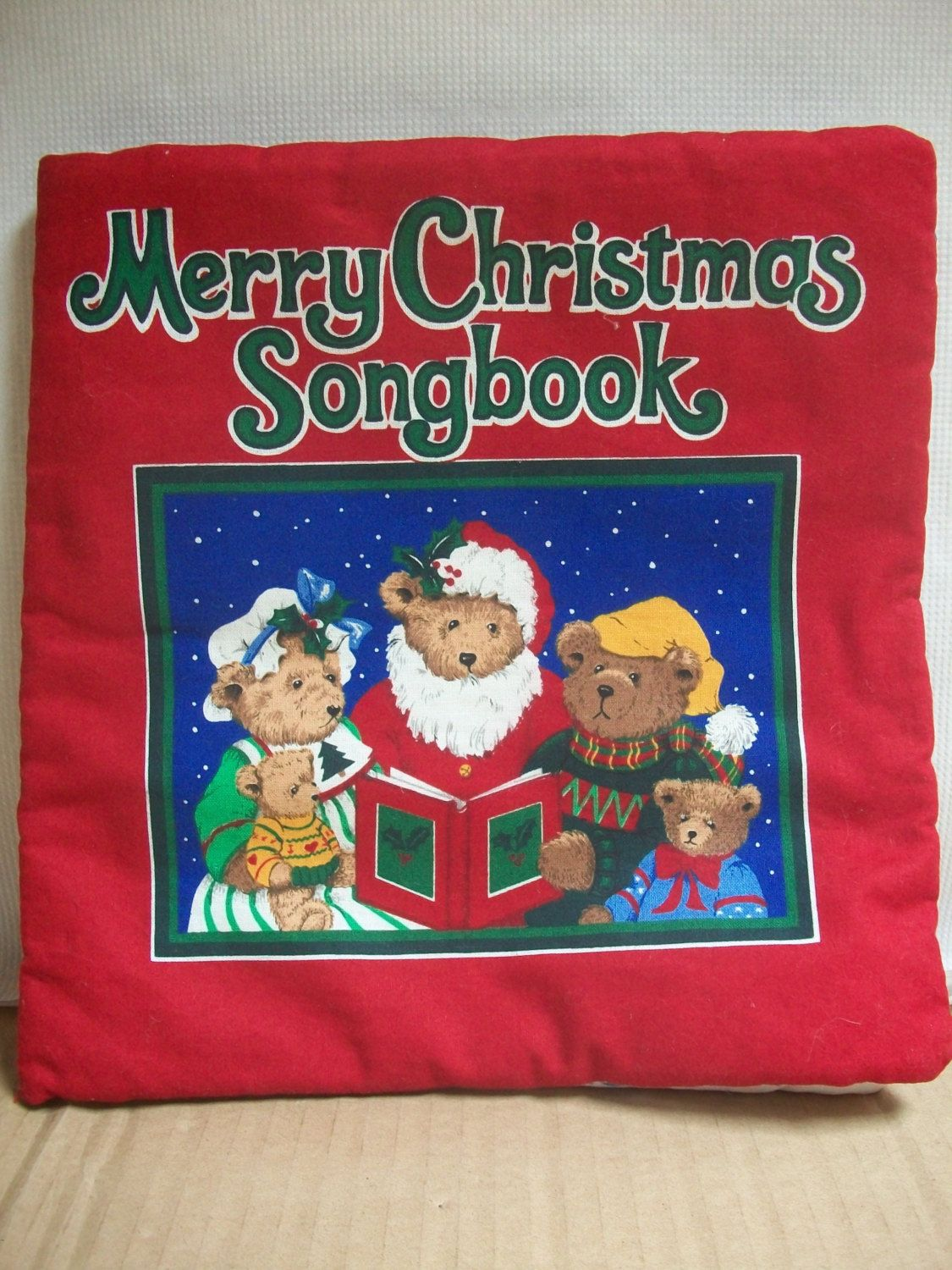 """Soft Fabric """"Merry Christmas Songbook"""" by mooglamom on Etsy   Christmas fabric crafts, Christmas ..."""