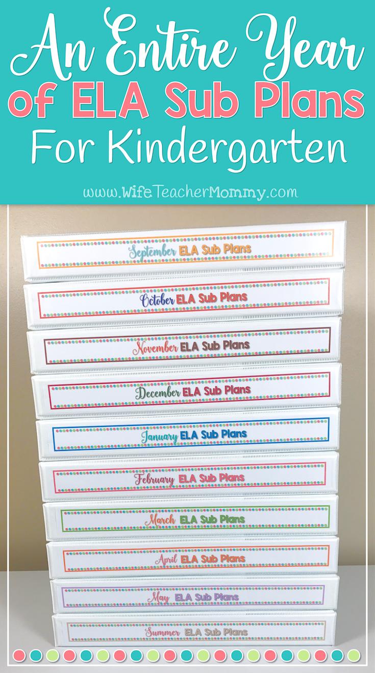 A Year of Emergency Sub Plans for Kindergarten (ELA) | Holiday ...