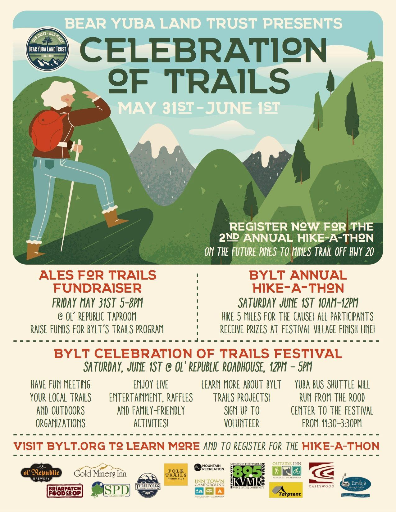 Celebration Of Trails And More Outside Inn City Events Family Friendly Event Nevada City