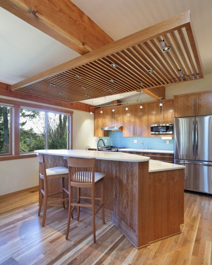 6 Suspended Ceiling Decors Design Ideas For 2020 Pouted Com Kitchen Lighting Design Wood Slat Ceiling Elegant Kitchen Design