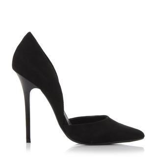Buy Women Shoes / Steve Madden Varcityy Black Heeled Court Shoes