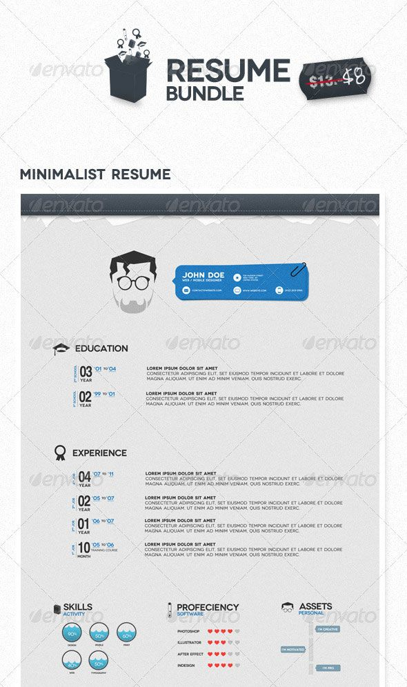 20 Best Resume Templates | Web Design Inspiration, Design