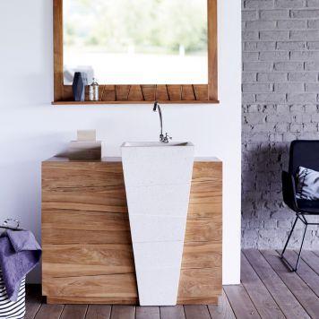 Badmöbel aus Teak mit Waschbecken 100 Icone   Badmoebel   Pinterest ...