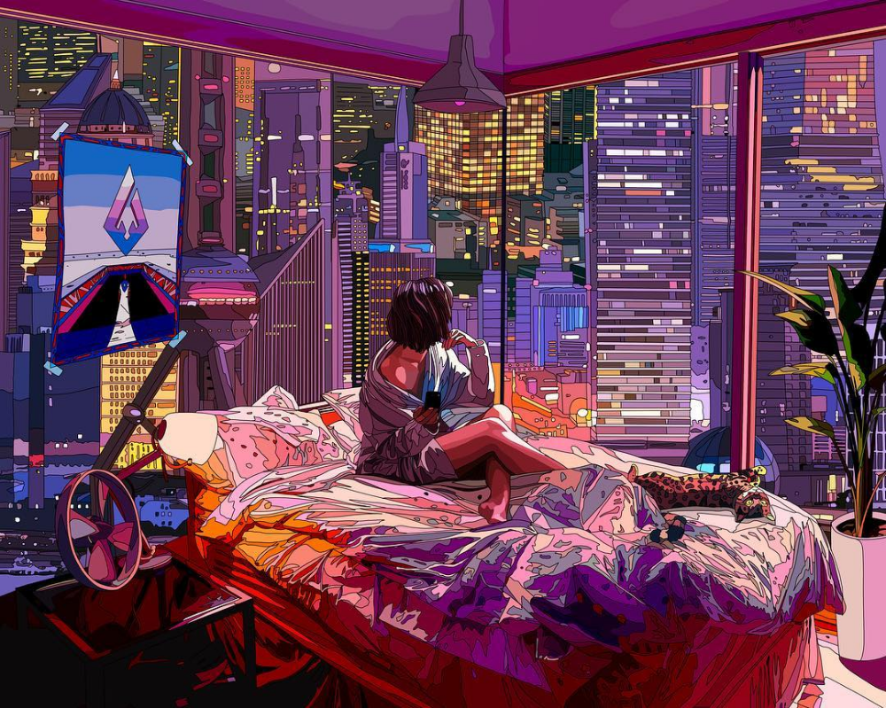 Mad Dog Jones's illustrations with a cyberpunk style
