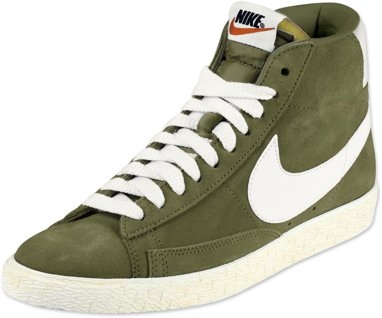 Nike Blazer Mid Suede Vintage W Schuhe oliv | Favorite shoes