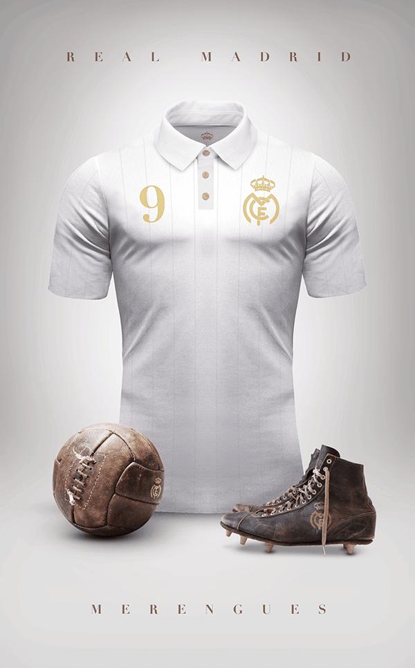 dbf6cafe9e640 Uniformes de clubes de fútbol estilo vintage por Emilio Sansolini ...