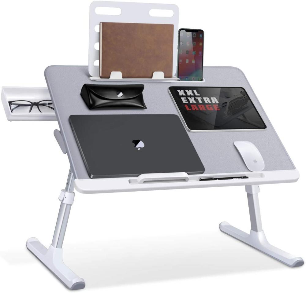 Amazonsmile Laptop Bed Tray Desk Saiji Adjustable Laptop Bed Table Foldable Laptop Stand With In 2020 Laptop Stand Bed Laptop Desk For Bed Adjustable Laptop Table