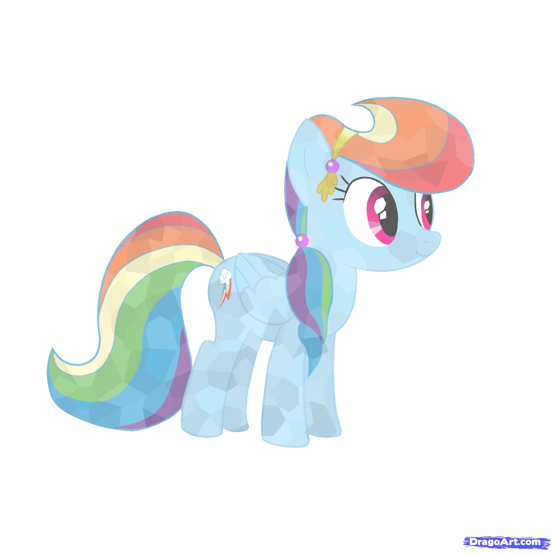 How To Draw Crystal Rainbow Dash My Little Pony By Nickmoble