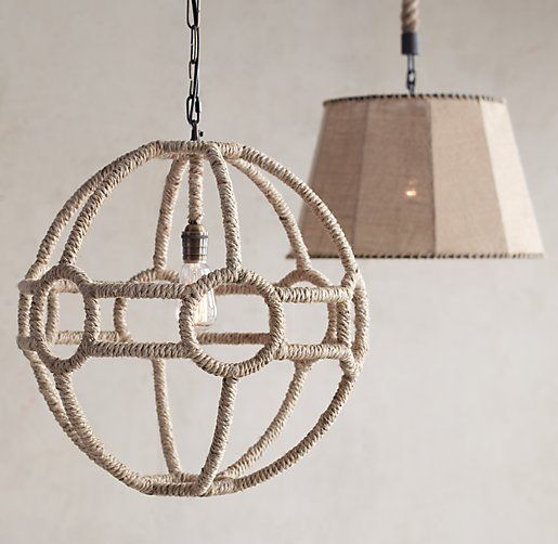 Rope Orb Pendant Natural | Lighting | Pinterest