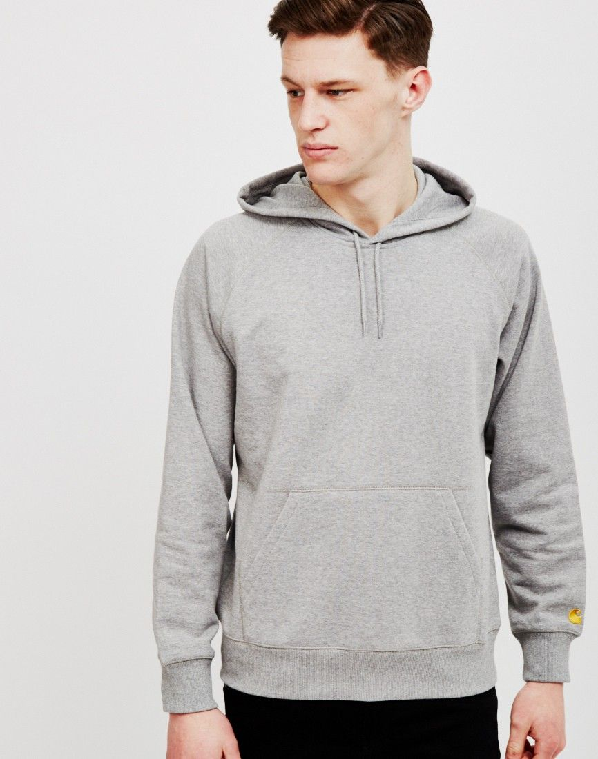 Carhartt WIP Chase Hoodie Grey Heather | Shop men's clothing at The Idle Man