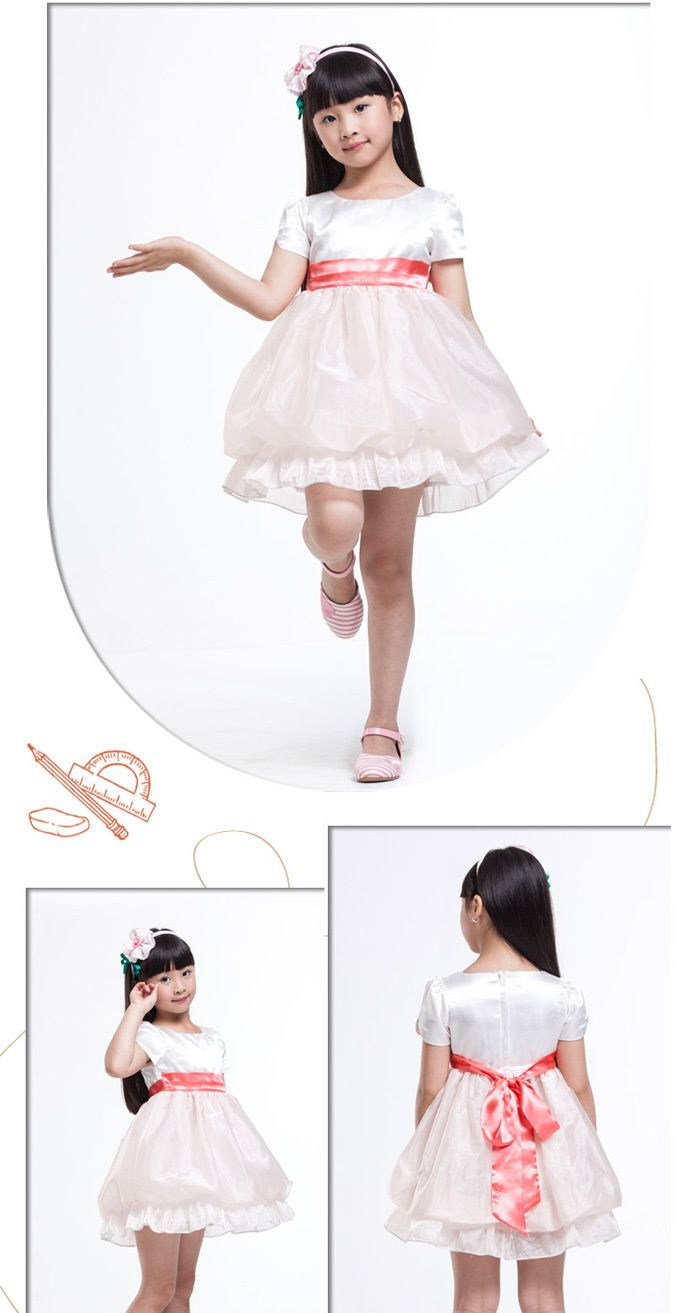 Free shipping cute girl summer formal dress for kids princess party
