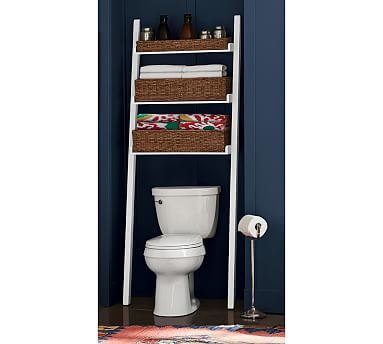 Ainsley Over The Toilet Ladder With Baskets Pottery Barn Over The Toilet Ladder Bathroom Shelf Decor Toilet Storage