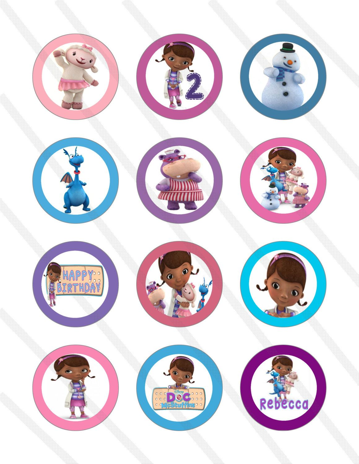 Printable Doc Mcstuffins Cake Topper Picture
