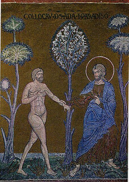 Adam Is Enterind In Eden Vedomyj Bogom Vstupaet Adam V Raj