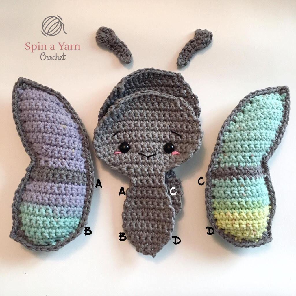 Crochet Beautiful Amigurumi Butterflies For Kids as Great Gifts | 1024x1024