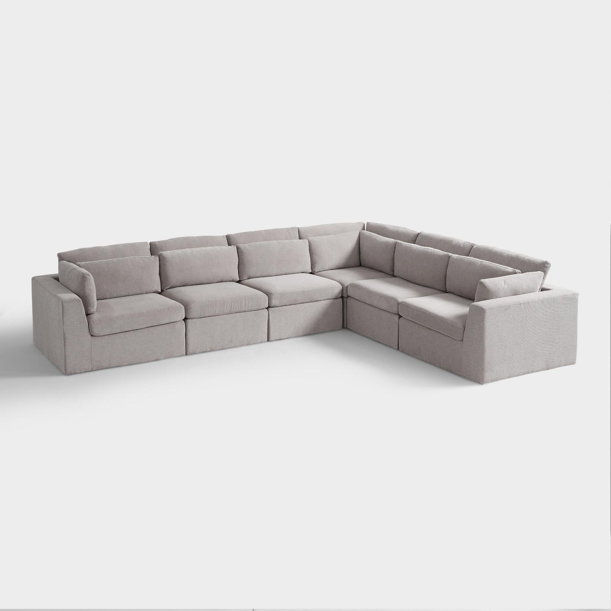 Bettsofa Florida Emmett 6 Piece Modular Section Sofa By World Market Products