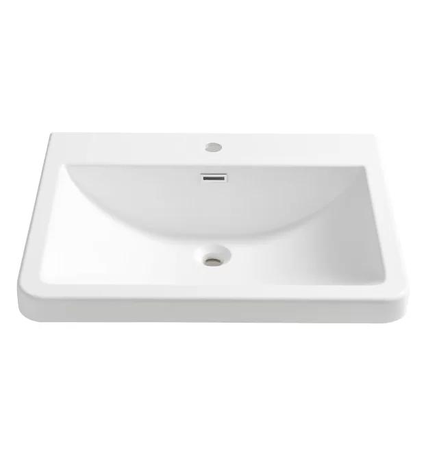 Milano Rectangular Drop In Bathroom Sink With Overflow In 2020 Drop In Bathroom Sinks Bathroom Sink White Bathroom Storage