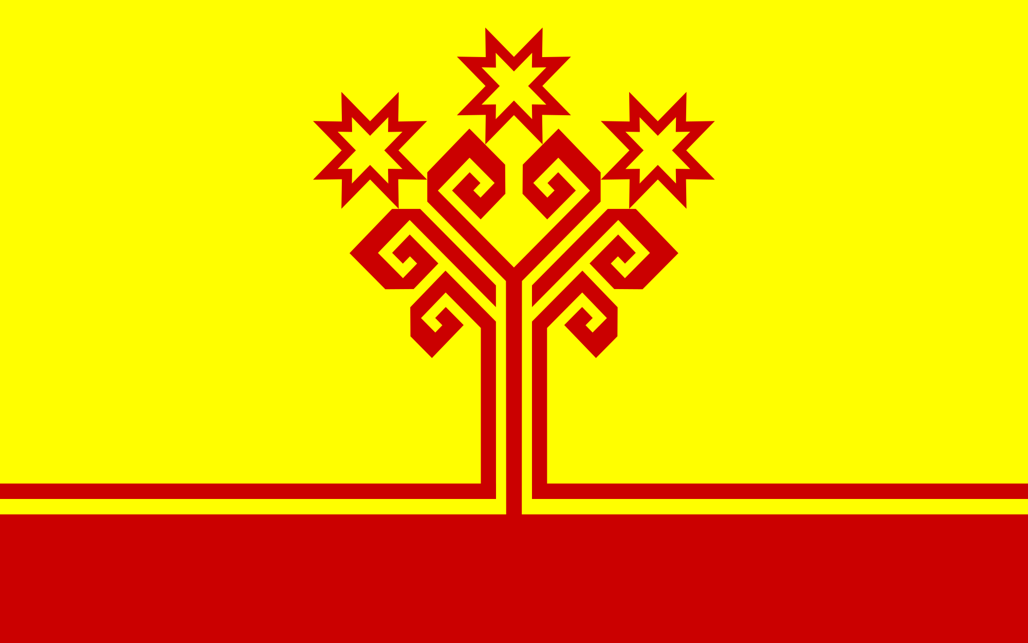 the flag of the chuvash republic a federal subject of russia is