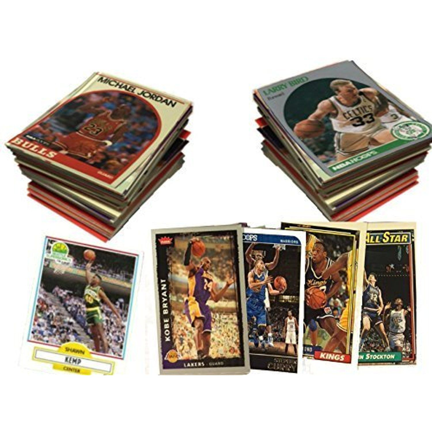 NBA Basketball Card Collector Box Over 500 Different Cards